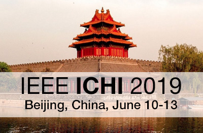 IEEE International Conference on Healthcare Informatics (ICHI) 2019