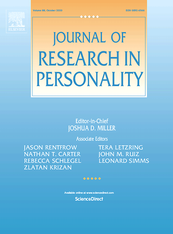 Journal of Research in Personality